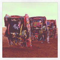 Photo taken at Cadillac Ranch by Craig G. on 5/11/2012
