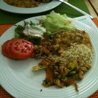 Photo taken at Mãe Natureza - Restaurante Vegetariano by Laura S. on 2/16/2012