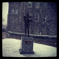 Photo taken at Ernie Davis Statue by Kevin K. on 3/9/2012