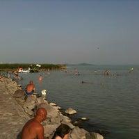 Photo taken at Szigligeti Strand by Mészi G. on 6/21/2012
