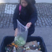 Photo taken at Jackson Heights Greenmarket by wqnscompost .. on 1/29/2012