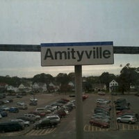 Photo taken at LIRR - Amityville Station by Jason M. on 10/12/2011