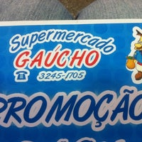 Photo taken at Supermercado Gaucho by Phelipe A. on 1/10/2012