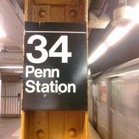 Photo taken at MTA Subway - 34th St/Penn Station (1/2/3) by Ryan N. on 2/5/2011