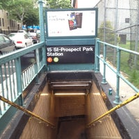 Photo taken at MTA Subway - 15th St/Prospect Park (F/G) by David A. on 5/22/2012