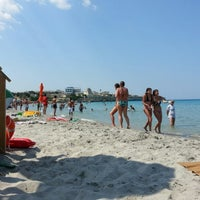 Photo taken at Spiaggia di Torre dell'Orso by Daniele F. on 7/3/2012
