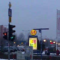 Photo taken at Metro Służew by Pawel S. on 1/19/2012