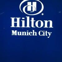 Photo taken at Hilton Munich City by Kent R. on 10/23/2011