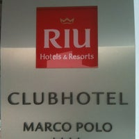 Photo taken at Marco Polo RIU Hotel Hammamet by Luc D. on 7/13/2012