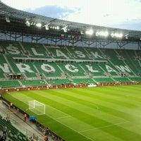 Photo taken at Stadion Wrocław by Darek on 9/11/2012