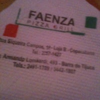 Photo taken at Faenza Pizza & Grill by Francine F. on 11/12/2011