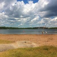 Photo taken at Albro Lake Beach by Sharon H. on 7/3/2012