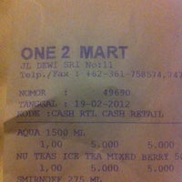 Photo taken at One 2 Mart by A J on 2/20/2012