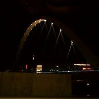Photo taken at Pedestrian Bridge by Zach S. on 11/16/2011