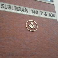 Photo taken at Suburban Masonic Lodge #740 F&AM by tata h. on 11/8/2011