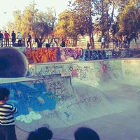 Photo taken at Skatepark Parque O'Higgins by Eduardo L. on 9/10/2011