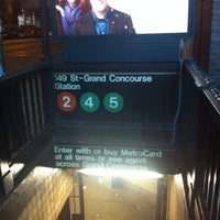 Photo taken at MTA Subway - 149th St/Grand Concourse (2/4/5) by James C. on 12/23/2010