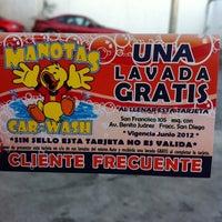 Photo taken at Manotas Car-Wash by Itzel B. on 1/16/2012