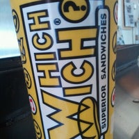 Photo taken at Which Wich? Superior Sandwiches by Cristal R. on 9/13/2011