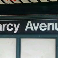 Photo taken at MTA Subway - Marcy Ave (J/M/Z) by Matthew G. on 1/5/2012