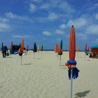 Photo taken at Plage de Deauville by Soulsista C. on 7/28/2012