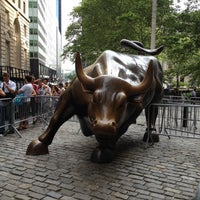 Photo taken at Charging Bull by Arturo Di Modica by Bobby G. on 5/30/2012