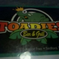 Photo taken at Toadies Bar and Grill by Bernice P. on 9/11/2011