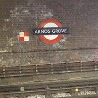 Photo taken at Arnos Grove London Underground Station by Dawn M. on 3/9/2012