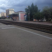 Photo taken at Gare SNCF de Nice Saint-Augustin by Marion L. on 9/1/2012
