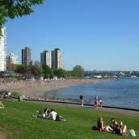 Photo taken at English Bay Beach by Spandy A. on 10/15/2011