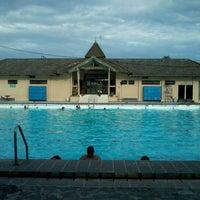 Photo taken at kolam renang Tirta Bhirawa Kopassus by Zana Z. on 12/10/2011