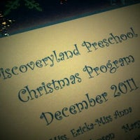 Photo taken at Discoveryland Preschool by James H. on 12/16/2011