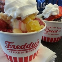 Photo taken at Freddy's Frozen Custard & Steakburgers by kat S. on 8/20/2012