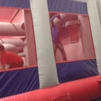 Photo taken at Bounce U by Rayna F. on 4/22/2012