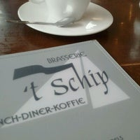 Photo taken at Brasserie 't Schip by Andy B. on 3/15/2011
