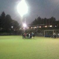 Photo taken at Canchas de entrenamiento del Estadio San Carlos de Apoquindo. by Joaquin G. on 5/10/2012