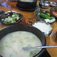 Photo taken at 전주장작불곰탕 by Douglas K. on 6/16/2012