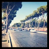 Photo taken at Via di San Gregorio by Justin S. on 7/11/2012