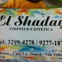 Photo taken at El Shaday Coiffeur e Estética by Andreia L. on 6/8/2012