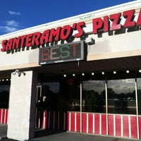 Photo taken at Santeramos Pizza by Andrea R. on 5/4/2012