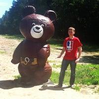 Photo taken at Олімпійский ведмедик / Olimpic Bear Monument by Ivan P. on 6/11/2012