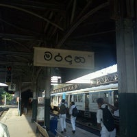 Photo taken at Maradana Railway Station by Srimal N. on 9/10/2012