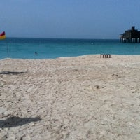 Photo taken at Madinat Jumeirah Private Beach by Marcus T. on 2/25/2012