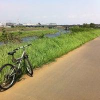 Photo taken at 鶴見川青少年サイクリングコース始点 by Takomiwa ken on 5/6/2012