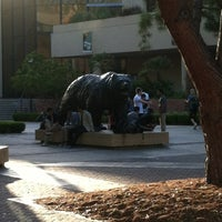 Photo taken at UCLA Bruin Statue by Ted T. on 6/8/2012