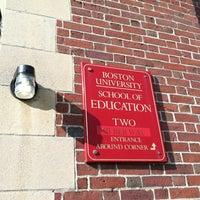 Photo taken at Boston University School of Education by Brian B. on 8/20/2012