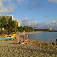 Photo taken at Waikīkī Beach by Alexandre T. on 9/12/2012