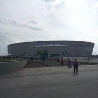 Photo taken at Stadion Wrocław by Tomasz Z. on 6/7/2012