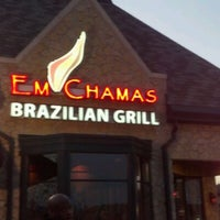 Photo taken at Em Chamas Brazilian Grill by Ajeenah G. on 4/1/2012