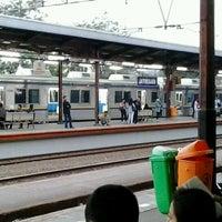 Photo taken at Stasiun Jatinegara by N Leo M. on 9/6/2012